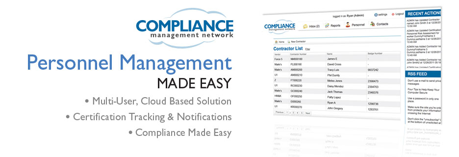 Personnel Compliance Network